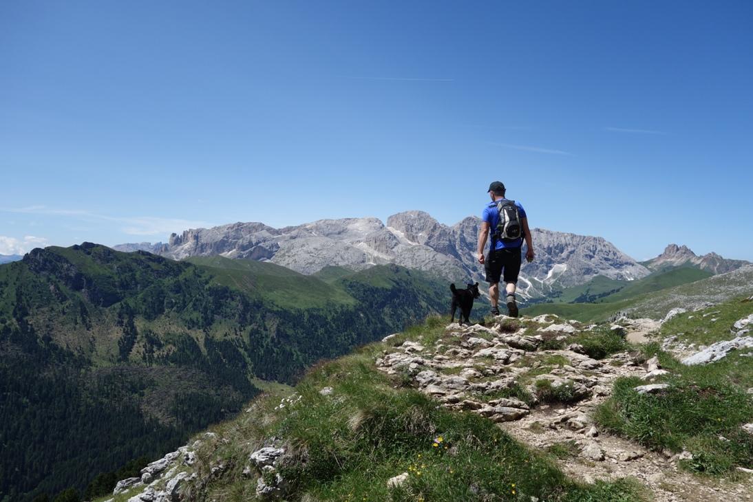 Wokół Sassolungo – nasz najdłuższy spacer z psem.