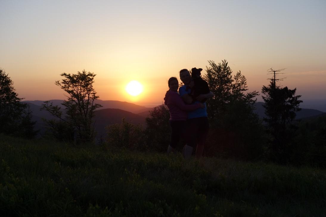 Zachód słońca na Potrójnej na zakończenie majówki.